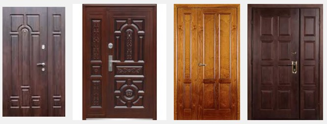 Размеры металлических входных дверей