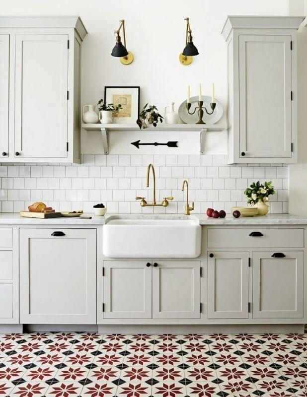 Küche Bodenfliesen und Laminat Fotos