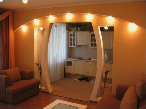 Освещение арки