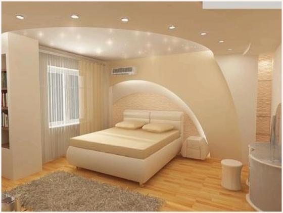 Свет в комнате с аркой