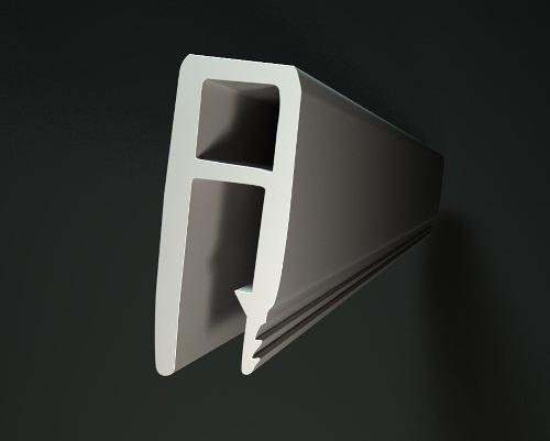 Алюминиевый профиль для натяжных потолков в разрезе