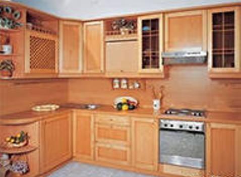 Фальшпанели для кухни из натурального дерева