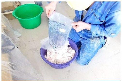 Процесс приготовления жидких обоев