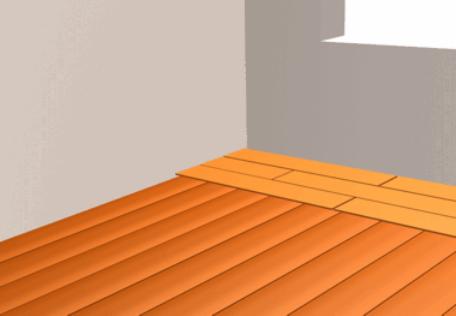 Направление материала подложки перпендикулярно направлению ламината