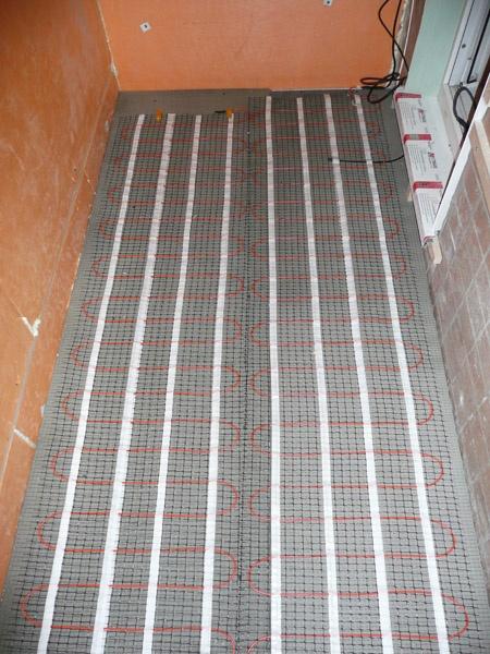 Электрический теплый пол для балкона