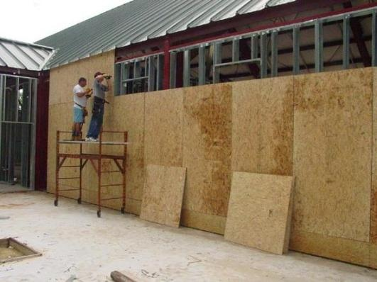 Обшивка стен ОСБ плитами