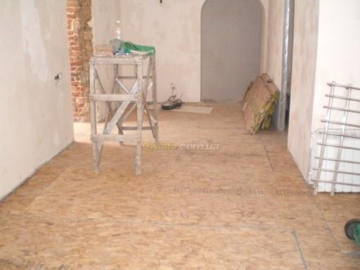ОСБ плиты на полу