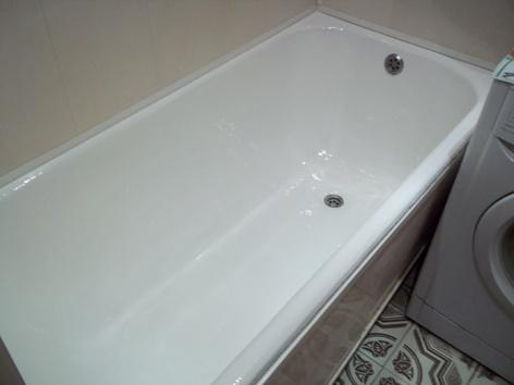 Эмалировка ванны своими руками - конечный результат