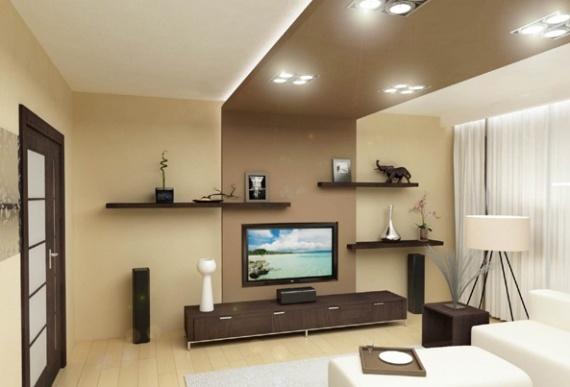 Потолок из гипсокартона в стиле минимализма