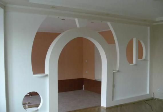 Межкомнатная арка из гипсокартона