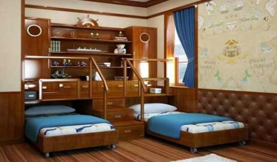 Многофункциональная комната для двух подростков