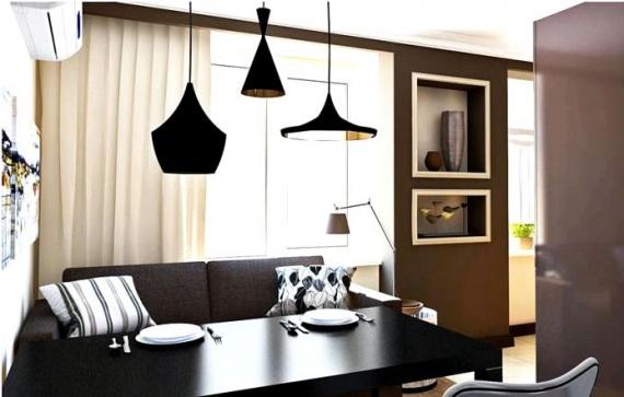 Три разных по форме, но одинаковых по стилю светильника