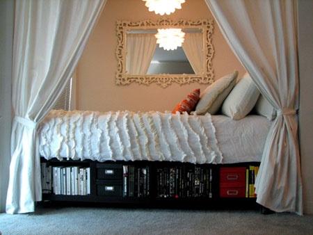 Удобные ящики для вещей под кроватью