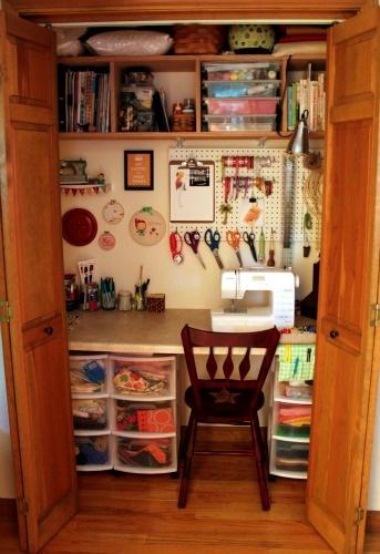 Компактное рабочее место для шитья