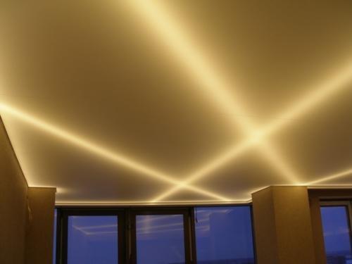 Полосы света на потолке