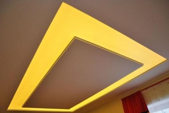 Сложный потолок из натяжного и гипсокартонного