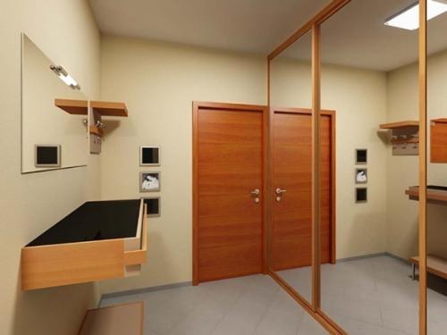 Шкаф-зеркало с раздвижными дверками