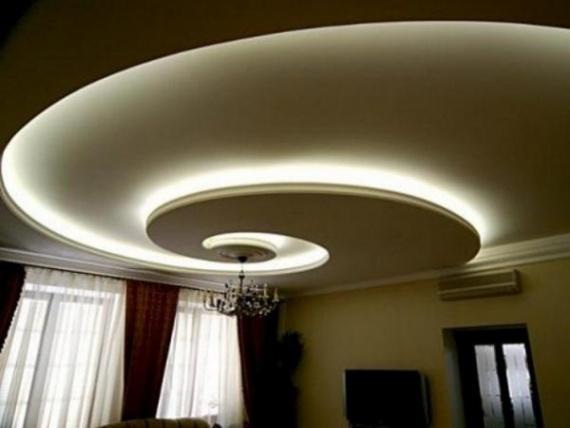 Для потолка в форме спирали