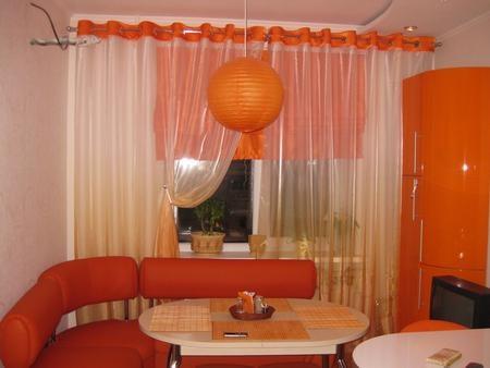 Яркий дизайн в оранжевых цветах