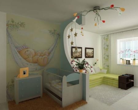 Комната с детской краваткой