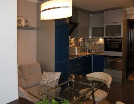 Расположение мебели на маленькой кухне