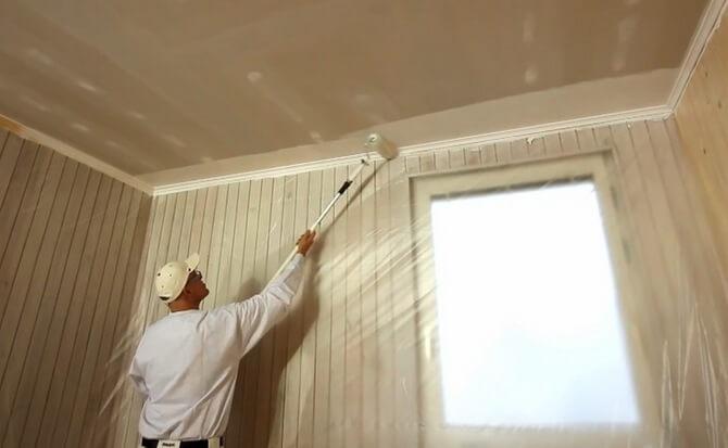 Побелка потолков своими руками водоэмульсионной краской