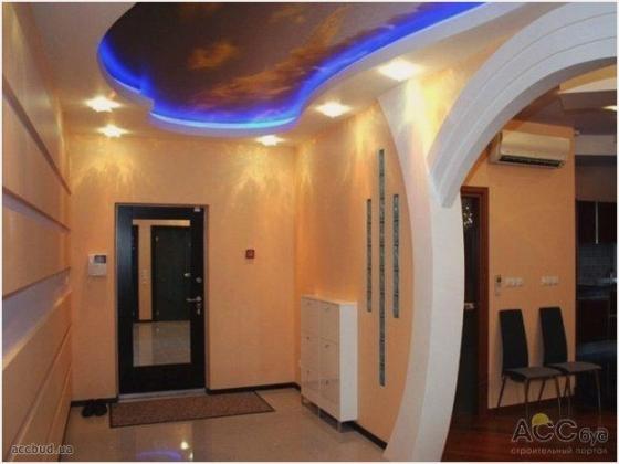 Вариант освещения помещения с межкомнатной аркой из гипсокартона
