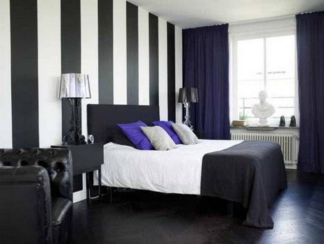 Обои для стен в спальне черно-белые