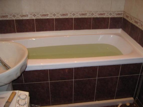Акриловый вкладыш в чугунную ванну