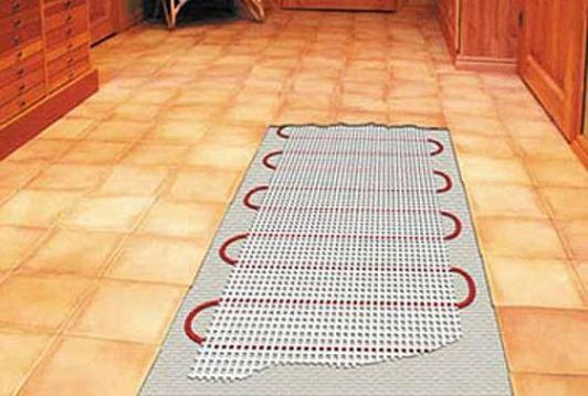 Так выглядит теплый пол под плиткой