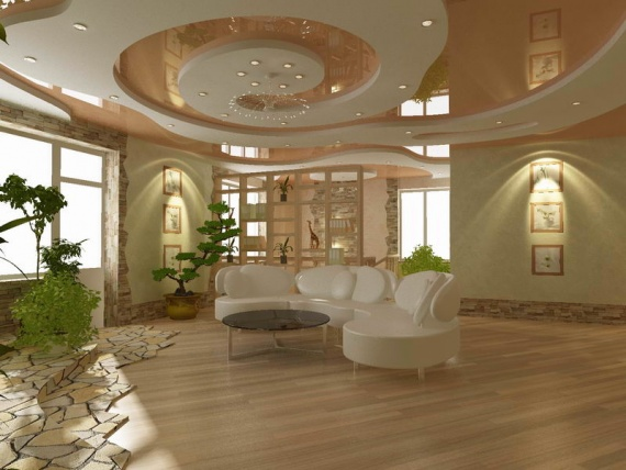 Комбинированный потолок – гипсокартон и натяжной