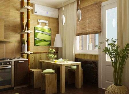 Кухня с интерьером из натуральных материалов