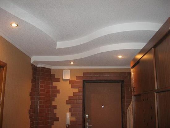 Классический белый потолок