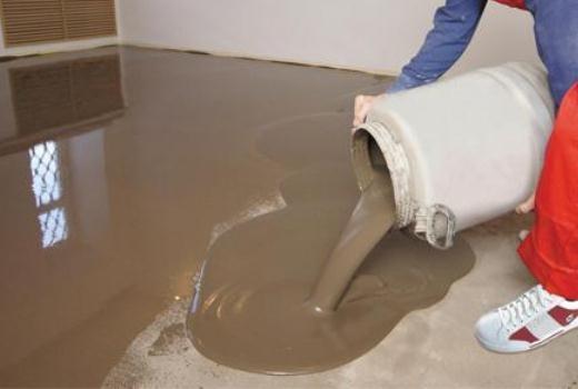 Цементосодержащий наливной пол