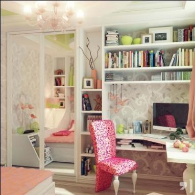 Множество полочек и удобный шкаф