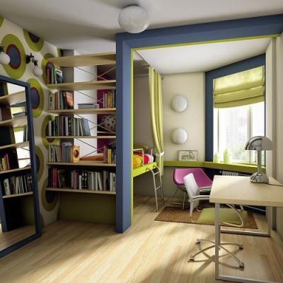 Личное пространство для учебы и сна