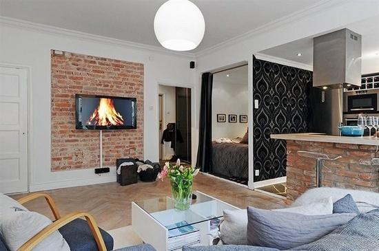 Очень практичный пример зонирования однокомнатной квартиры