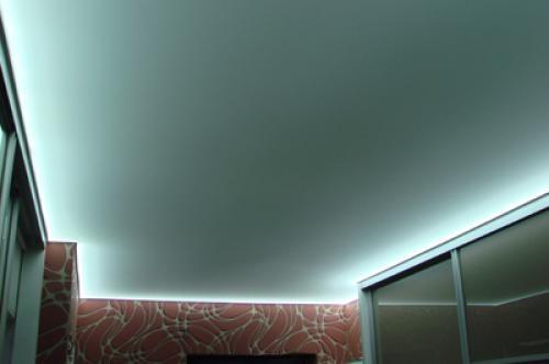 Легкие полосы по периметру стен