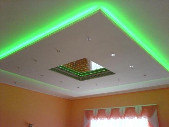 Скрытая полоса подсветки для комбинированного потолка