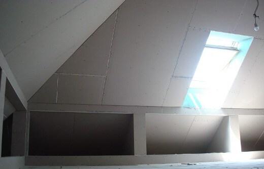 Сложный потолок мансарды из гипсокартона